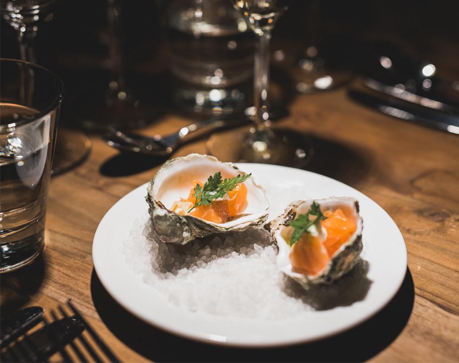 Ravintola Aurora Skyn menu on skandinaaviseen makuun sopiva.