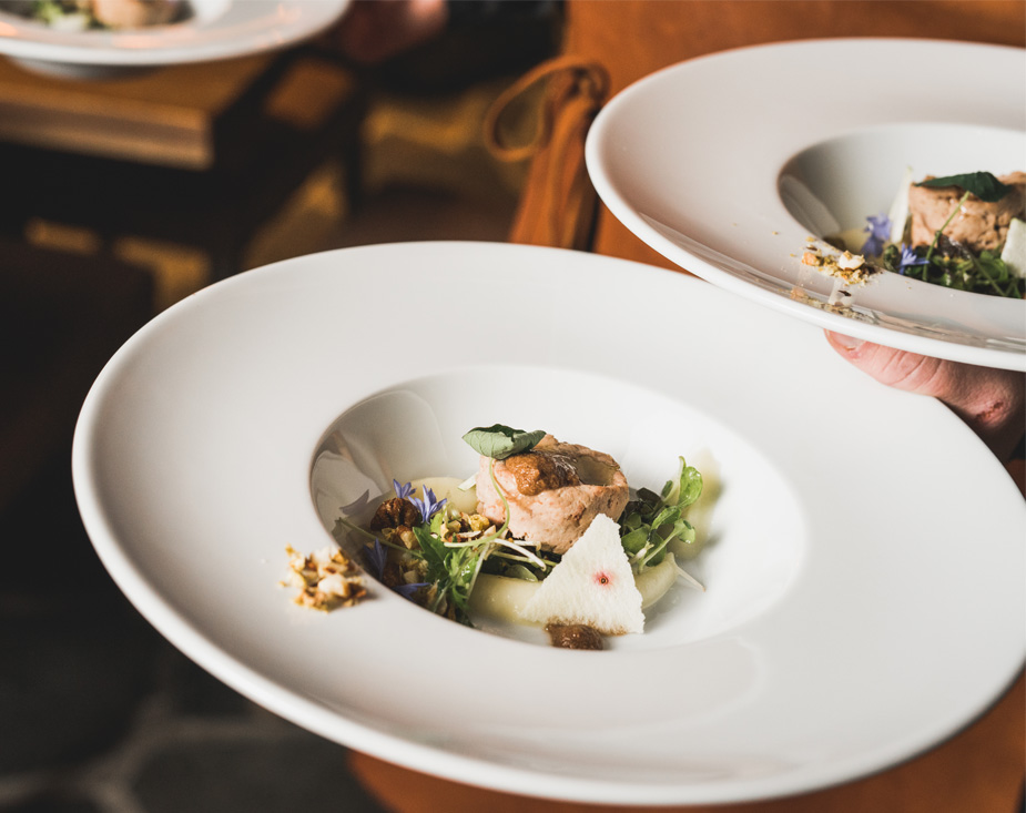 The Scandinavian menu of Levi's igloo restaurant changes seasonally.