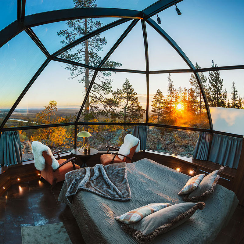 The best glass igloo experience in Finland.