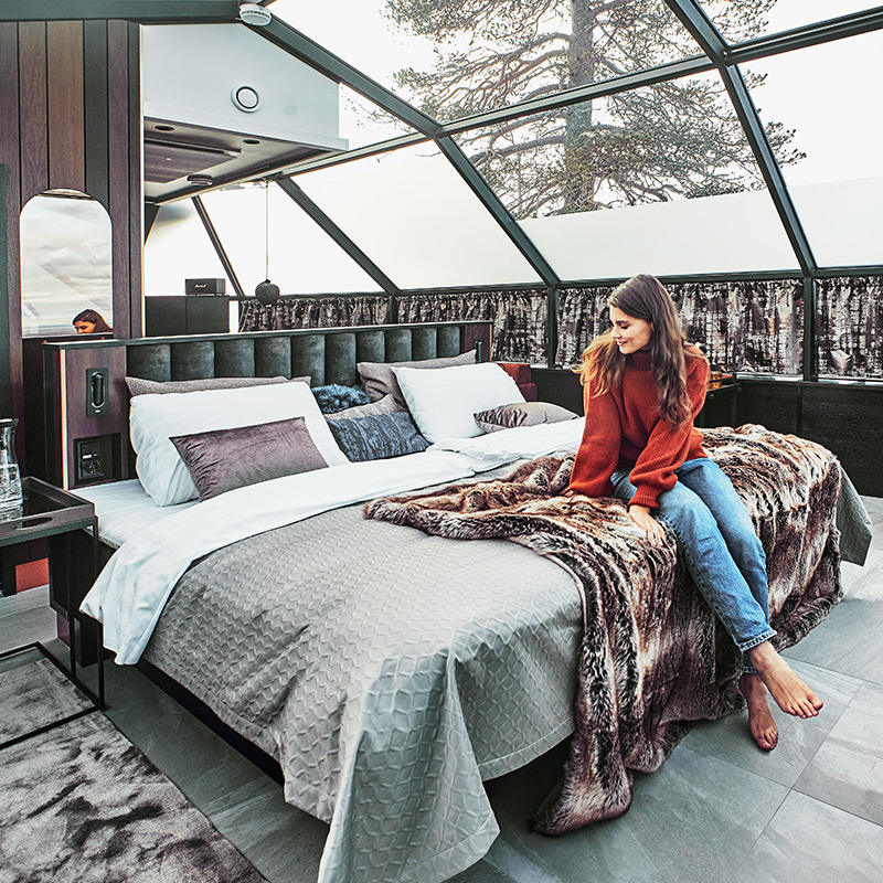 The Suite Igloo has a spacious interior