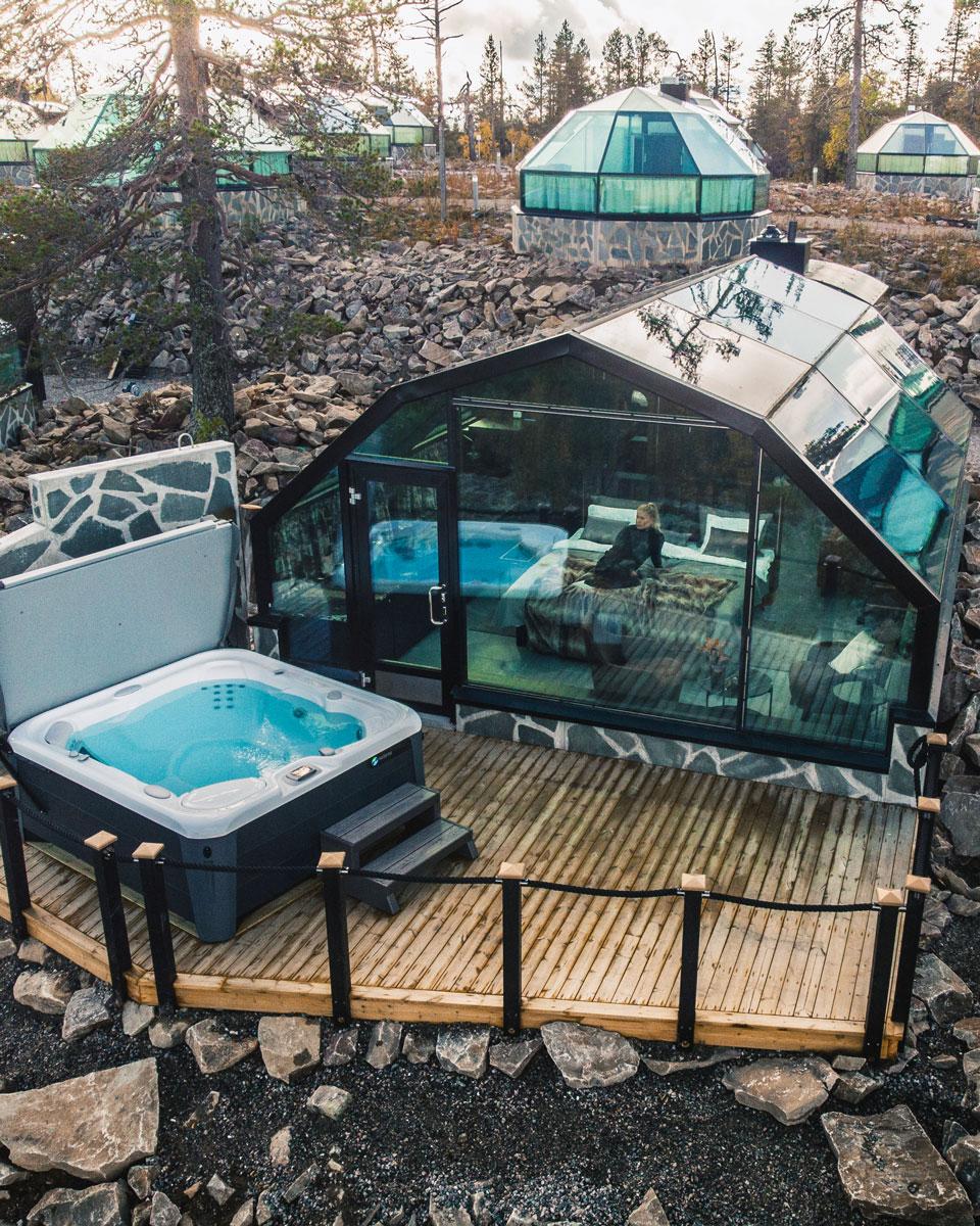 Suite-iglut tarjoavat tilavan majoituksen lyömättömällä maisemanäkymällä